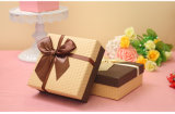 Pretty Square Gift Box with Fine Bowknot, Wedding Products Gift Box