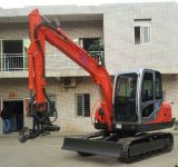 Mini Excavator 6tons Mini Crawler Excavator with Wood, Sugarcane Clamp (JG608L)
