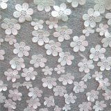 New Arrival Chiffon Flower Appliqued Embroidery Lace for Wedding Dress Fabric