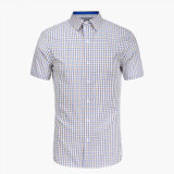 2016 Custom Wholesale Cotton Short Sleeve Plaid Flannel Shirt
