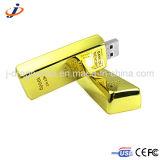 Custom Logo Gold Silver Coin Shape Metal USB Flash Memory