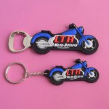 Custom 3D Pvcmotorbike Shaped Keychain