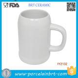 Custom Wholesale White Ceramic Beer Tea Cup