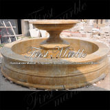 Simple Golden Sand Granite Fountain for Garden Decoration Mf-1186