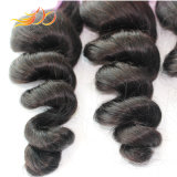 100% Cambodian Virgin Hair Double Weft Loose Wave Natural Hair Extension