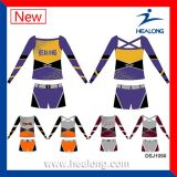 Healong Girls Sublimation Cheap Cusotm Cheerleading Uniforms Sets