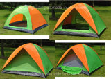 Practical Double-Skin Polyester Camping Tent for 2-4 Persons (JX-CT020-2)