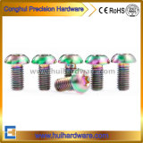 Tc4 Titanium Torx Button Head Screws Rainbow Color
