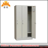 Steel 3 Door Metal Locker with Shelf and Hanger