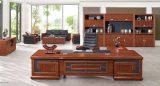 Large Size Wood Veneer Antique Manager Executive Desk