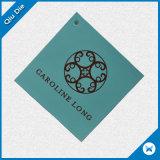 4*4cm Blue Simple Square Paper Folding Tag for Apparel