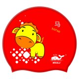 Professional Colorful Children's Cartoon Swimming Cap Withcustom Logo (CAP-711)