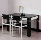 Dining Room Furniture, Wood Black White Beautiful Dining Table Set, Dinner Table (B05)