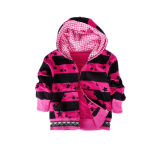 2015 Hot Sale Babies Red Stripe Cotton Hoody