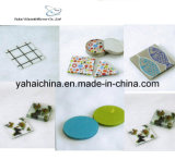 4mm Decorative Glass Coaster with Decal Pattern