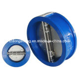 OEM Cast Iron Wafer Type Dual Plate Butterfly Check Valve