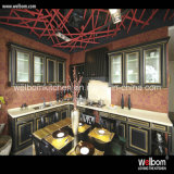 ISO Welbom High End Luxury Black Solid Wood Kitchen Cabinet