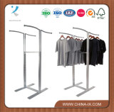 4 Way Garment Display Rack with Wave Hangrail