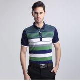 2016 100%Cotton Pique Polo Shirt Striped Polo for Summer