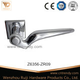Bedroom Bathroom Zinc Furniture Door Lock Handle on Rose (Z6356-ZR09)