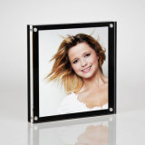 Acrylic Magnetic Photo Frames with a Gloss Finish Black Back Panel and a Clear Acrylic Front Panel.