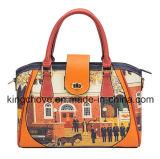 Printed PU Fashion Ladies Handbag (KCH202)