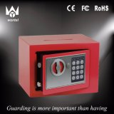 Red Color 17et Security Digital Electronic Lock Safe Box