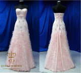 2016 Made in China Lace Part Drseses. Prom Dress