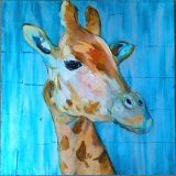 Hot Sales Abstract Deer Oil Paintings for Wall Decoration (LH-030000)