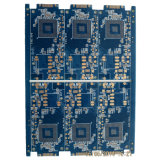 3.0mm 4 Layers Blue Printed Circuit Board with Gold Finger