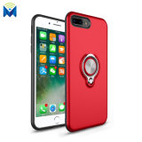 Magnetic Back Case Cover with 360 Degree Ring Holder for iPhone 8 7 Plus 6 X