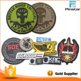 China High Quality Hat Accessories Custom Made Soft Rubber PVC Magic Tape Patch