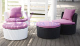 Customized 3 PCS Balcony Outdoor Leisure Comfortable PE Rattan Furniture