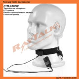Neckbank Throat Microphone with Acoustic Tube Earpiece