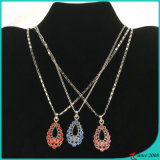 Wholesale Colorful Teardrop Charms Shinny Necklace for Women (FN16040830)