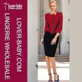 Patchwork Ladies Dresses Fashion Woman Wear (L36038-3)