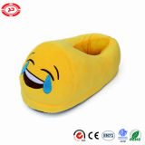 Big Laugh with Tears Funny Yellow Plush Stuffed Soft Slippers