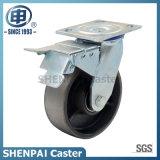"8"" Cast Iron Swivel Locking Caster Wheel"