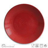 Simple Swirl ceramic Dinner Plate