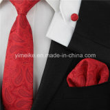 New Trending Paisley Design Fashion Polyester Woven Ties Mens