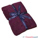 Purple Soft Microfiber Terry Bath Towel
