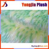 Grass Green Plant DOT Matrix Jacquard High Pile Fur Fabric