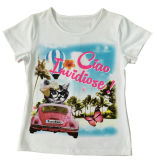 Lovely Car Kids T- Shirt Girl T-Shirt in Children Clohtes Sgt-052