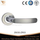 Zinc Zamak Chrome Door Lock Handle on Square Rose (Z6030-ZR03)