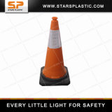 75cm Rubber Base PE Traffic Cone for Traffic Warning Lights
