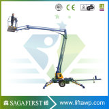 New Designed 16m 200kg Towable Trailed Aerial Hydraulic Lifting Equipment