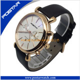Ap Style New Top Quality Selling Men Stainless Steel Quartz Leather Watch