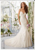 2016 Mermaid Lace Beaded Long Bridal Wedding Dresses Wd5415