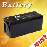 Must Long Life 12V 50ah 100ah150ah 200ah 250ah Deep Cycle Gel Solar Battery