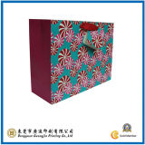 Customized Flower Printed Paper Bag (GJ-Bag087)